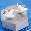 Sterling Silver Dove Stud Earrings
