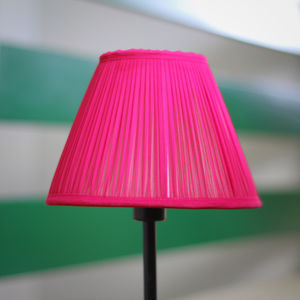 Cerise Chiffon Gathered Lampshade - office & study