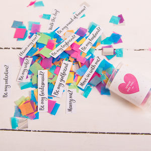 Personalised Secret Question Confetti Pop - what's new