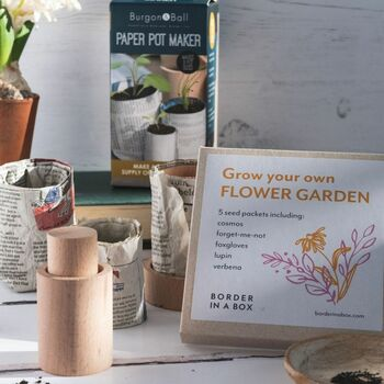 Make Your Own Eco Flower Pots And Seed Kit