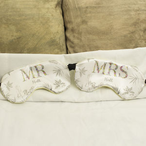 Personalised Couples Eye Mask Mr And Mrs Gift Set - eye masks & neck pillows