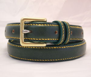 Handmade Wimbledon English Leather Raised Belt - womens