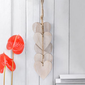 Wooden Hanging Heart Decoration - bedroom