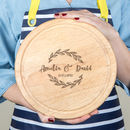 Personalised Couple's Round Serving Board