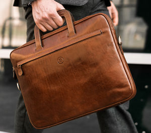 Personalised Leather Document Case.'The Tutti' - bags & cases