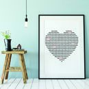 Love Heart Typed Print