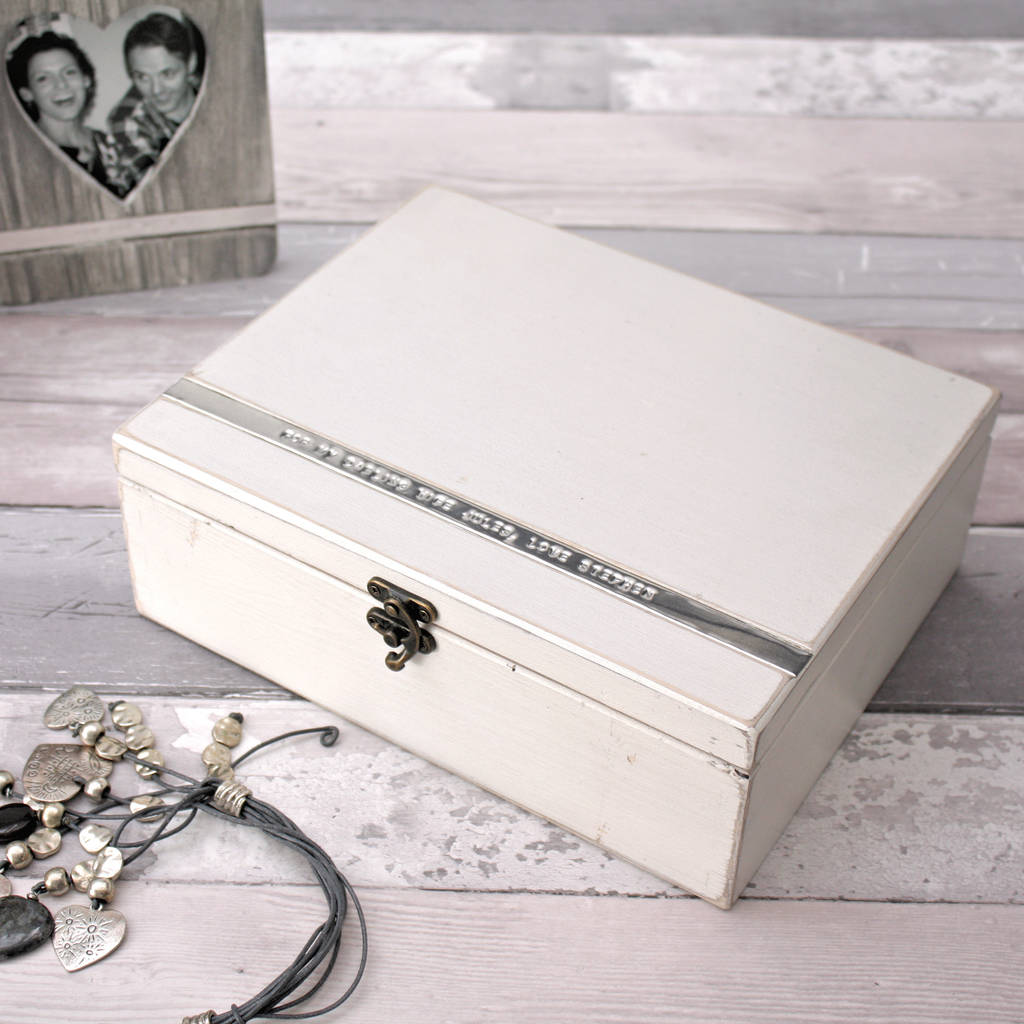 personalised large wooden jewellery box by warner 39 s end. Black Bedroom Furniture Sets. Home Design Ideas