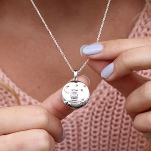 Personalised Sterling Silver And 18ct Gold Owl Locket