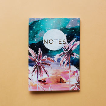 Midnight Nevada A6 Notebook With Gold Foiling