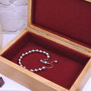 Burgundy Lined Contemporary Anniversary Trinket Box With Bracelet