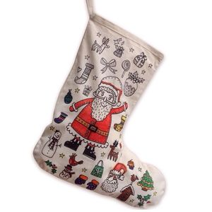 Colour In Santa Christmas Stocking