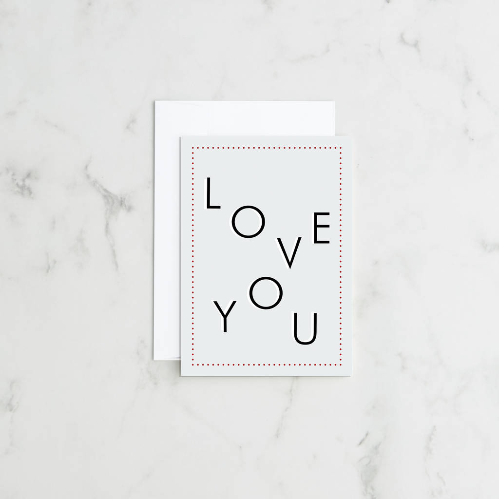 'Love You' Valentines Day Card