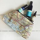 Personalised Map Print Wash Bag