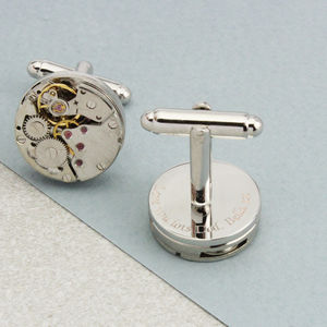 Personalised Vintage Watch Movement Cufflinks - cufflinks