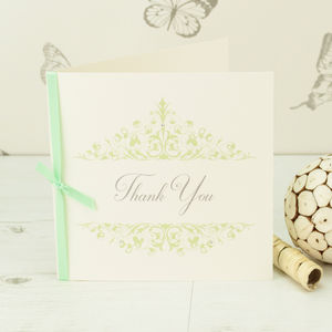 10 Personalised Leah Thank You Cards - wedding cards