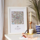 Personalised UK Postcode Map Print