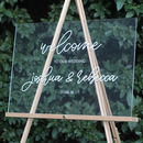 Personalised Acrylic Wedding Welcome Sign