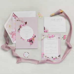 Wedding Invitations: Secret Garden Collection - invitations