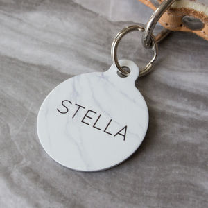 Marble Pet ID Tag - clothes