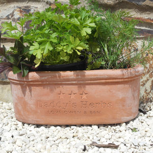 Engraved Message Herb Planter - father's day gifts