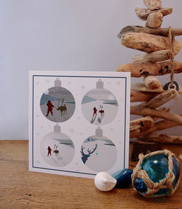 Beach Inspired Christmas Card Baubles