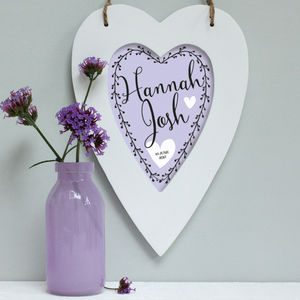 Personalised Pastel Love Heart Print - hanging decorations