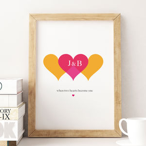 Two Hearts Become One Valentine's Day Print