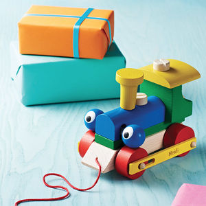 Personalised Wooden Train Take Apart And Pull Along Toy - birthday gifts