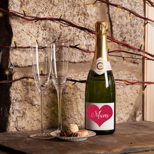 Love Heart 'Mum' Champagne