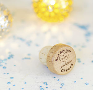 Best Day Ever Personalised Wine Bottle Stopper - wedding favours