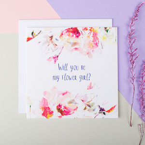 'Will You Be My Flower Girl?' Card - wedding cards & wrap