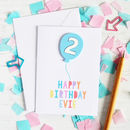 Personalised Acrylic Balloon Birthday Card