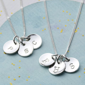 Sterling Silver Initial Necklace - free delivery gifts