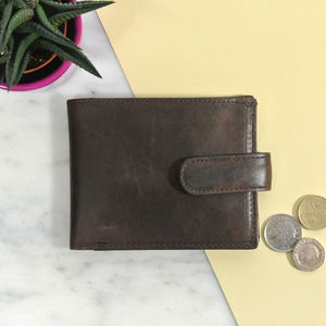 Vintage Personalised Leather Wallet - wallets & money clips