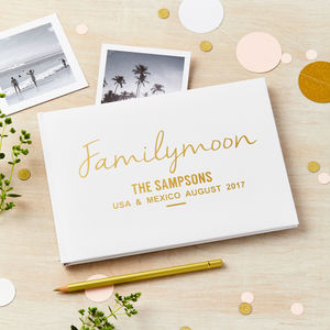 Personalised Familymoon Photo Album Journal