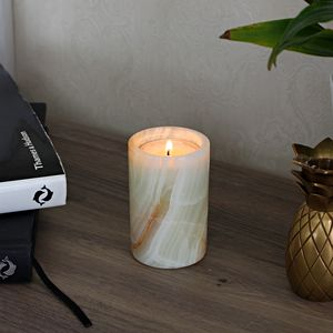 White Onyx Tea Light Candle Holder - tableware