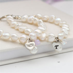 Treasured Personalised Pearl Charm Bracelet - bracelets & bangles