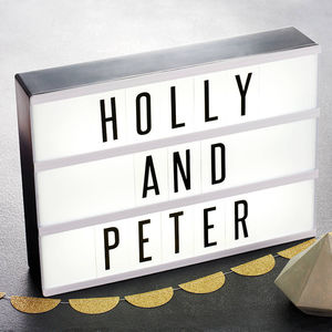 Customisable Cinematic Lightbox - personalised gifts