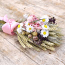Pink Wheat Posy