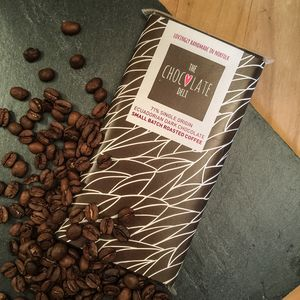 Handmade 71% Ecuadorian Dark Chocolate With Coffee Bar
