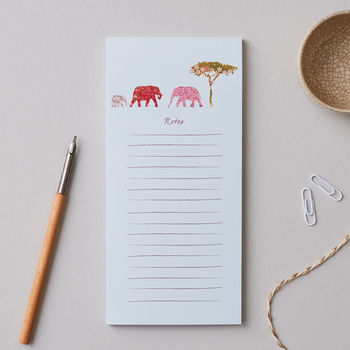 Elephant Family 'Notes' Magnetic Notepad