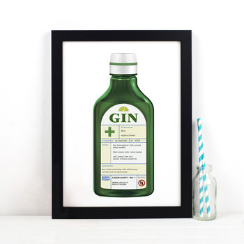 Personalised Gin Prescription Print