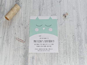 Cute Owl Party Invitation - invitations