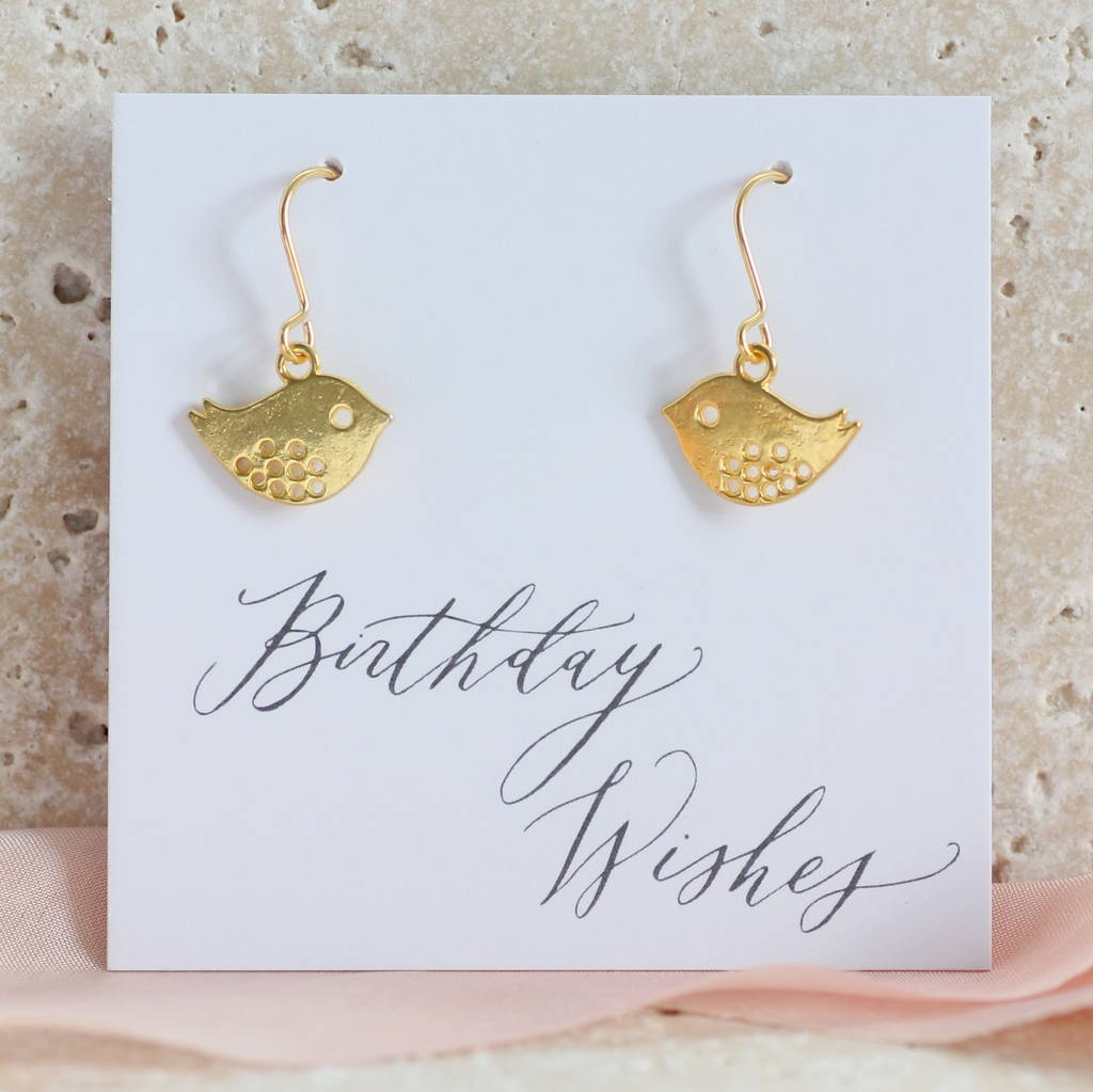 Cute Lovebird Earrings