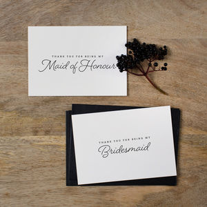 Bridesmaid Thank You Card - shop by category