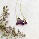 Personalised Amethyst Mountain Necklace