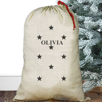 Personalised Christmas Sack Stars