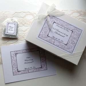 Personalised Tea 12 Reasons To Be My Bridesmaid - be my maid of honour