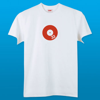 Men's Red Spin T Shirt