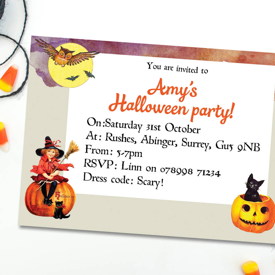 Halloween Party Invitations | notonthehighstreet.com